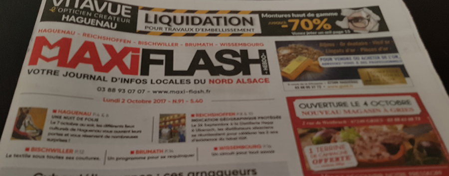 Premier article de presse dans MAXIFLASH
